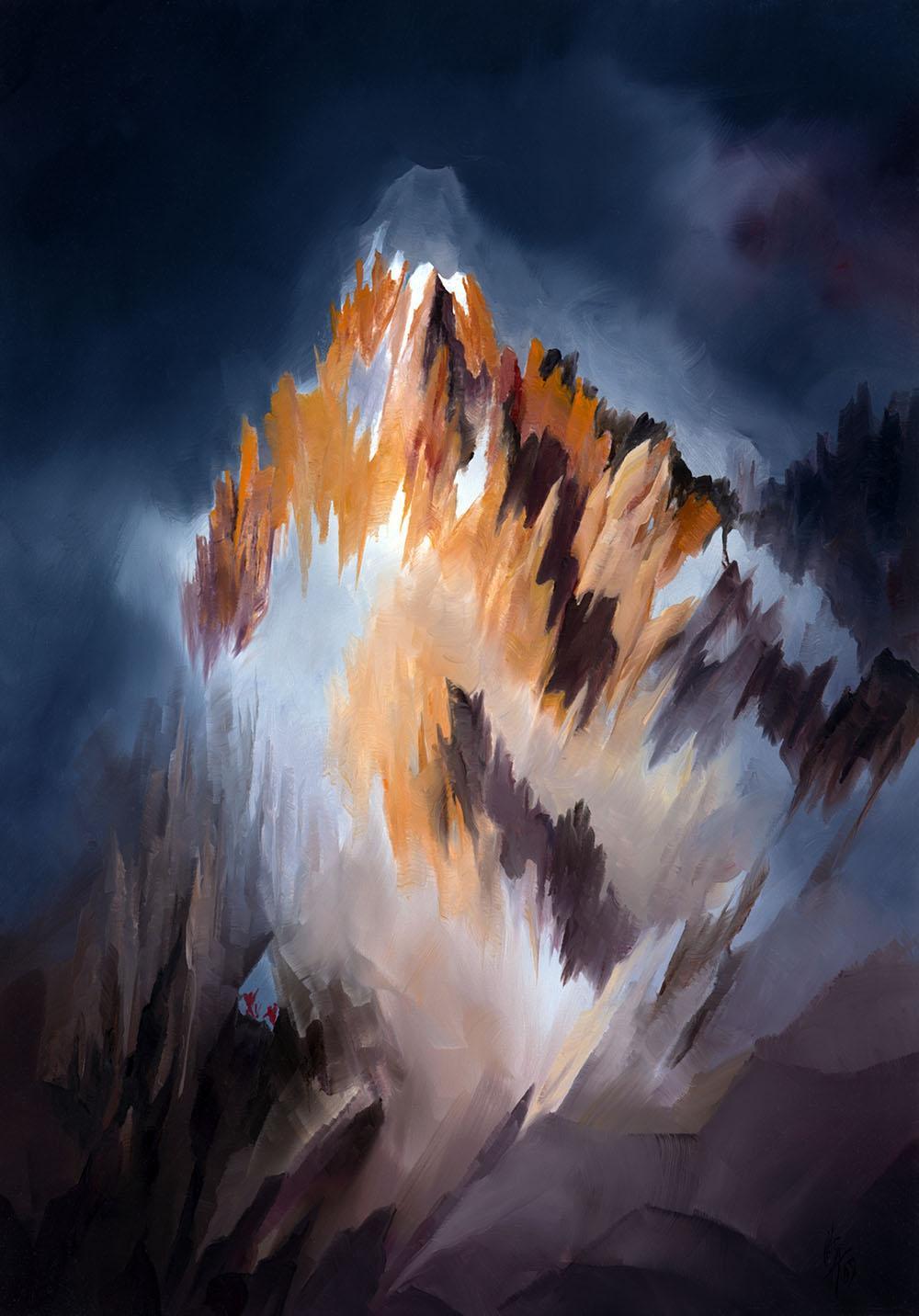 Peinture Paysage Montagne