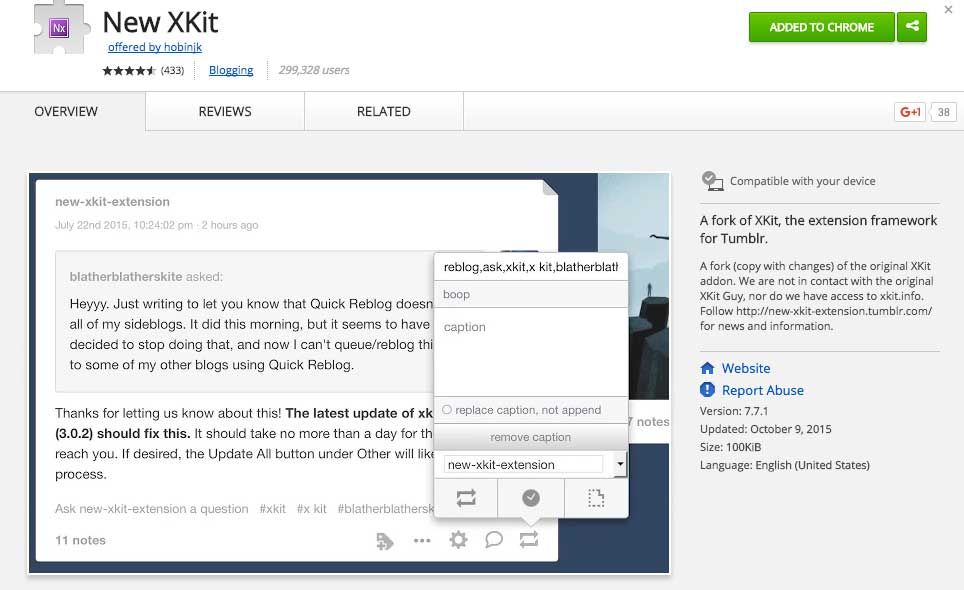 Tumblr tips for artists - New XKIT