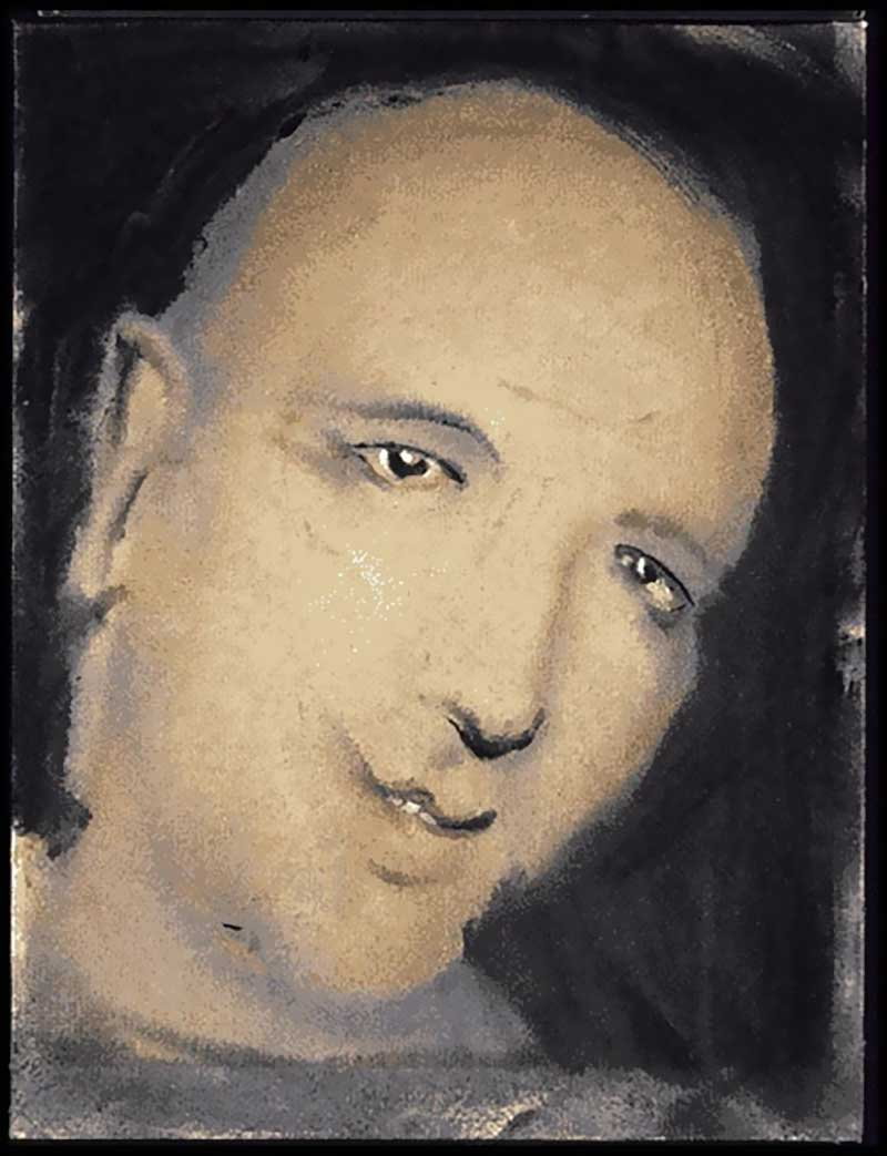 David Bowie paintings - DHead LV - Portrait of Mike Garson