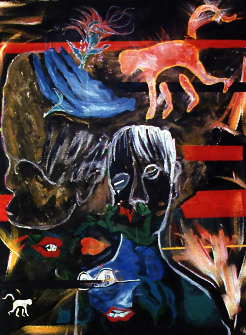 David Bowie paintings - Evol for the Missing - 1996