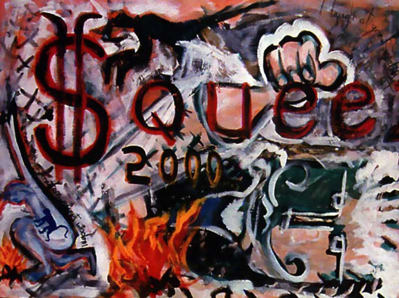 David Bowie paintings - Squeeze 2000 - 1996