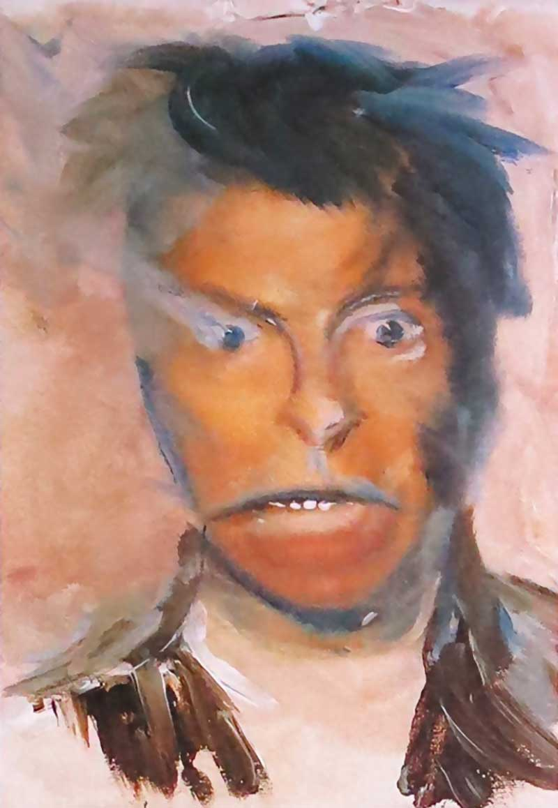 David Bowie paintings - Self portrait