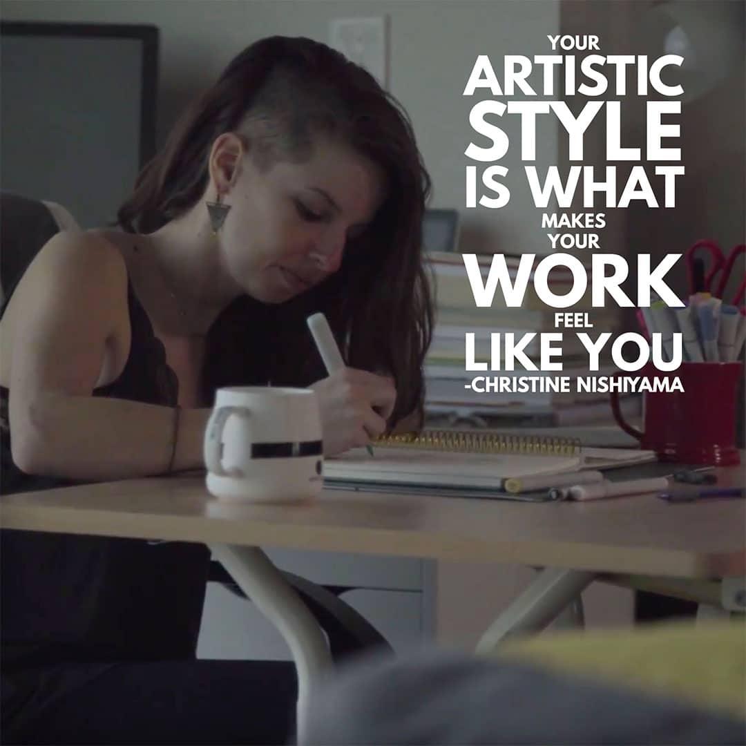 how to find your art style - Christine Nishiyama