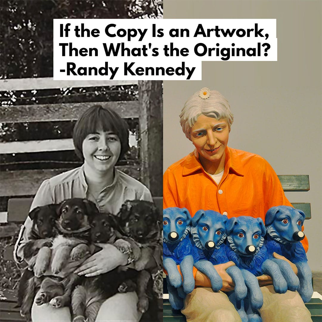 how to find your art style - Copyright Art Rogers Puppies Jeff Koons