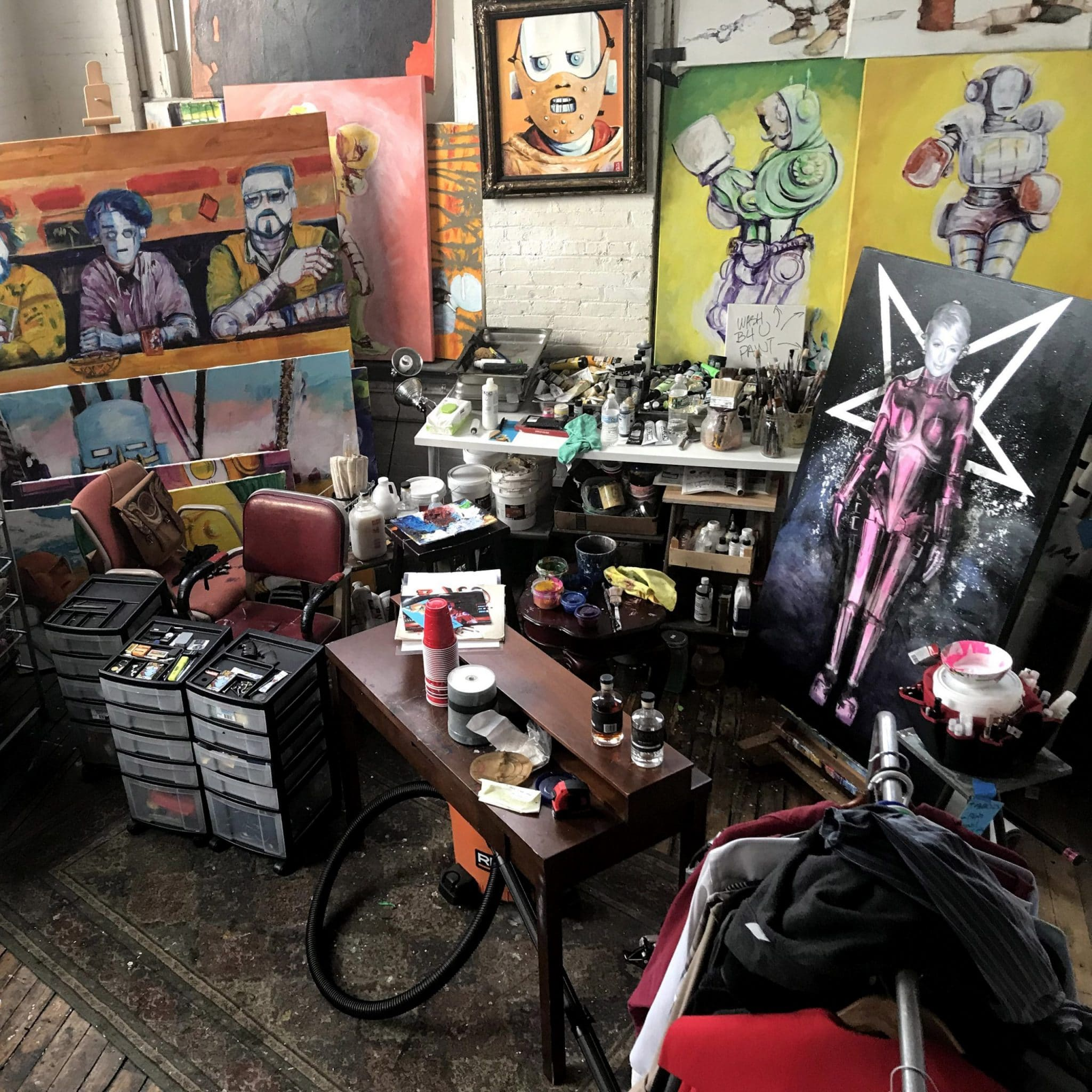 What is an art studio?