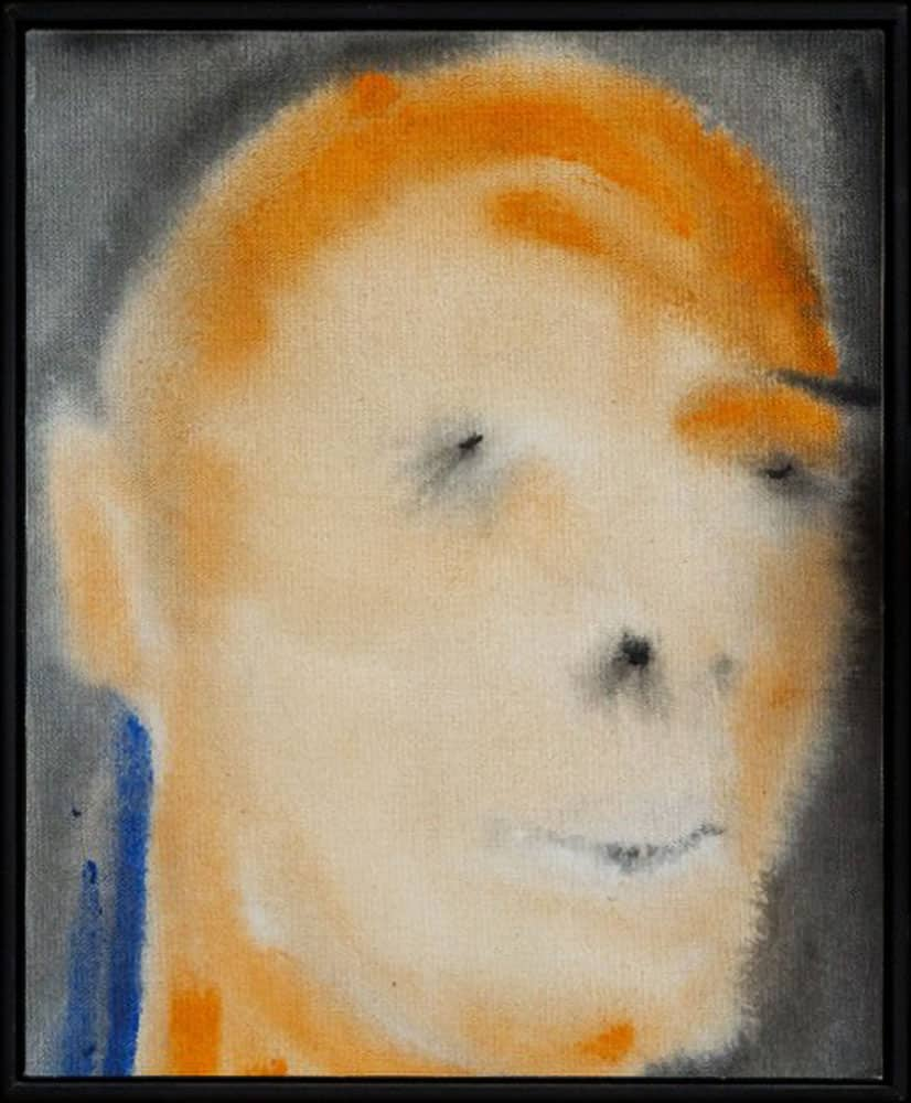David Bowie paintings - The rape of Bigarschol - 1996