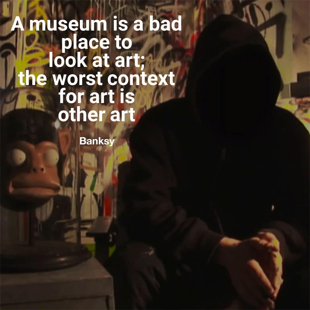 street art quotes Banksy